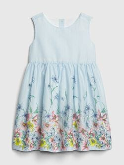 43d0742060 Toddler Floral Stripe Fit And Flare Dress
