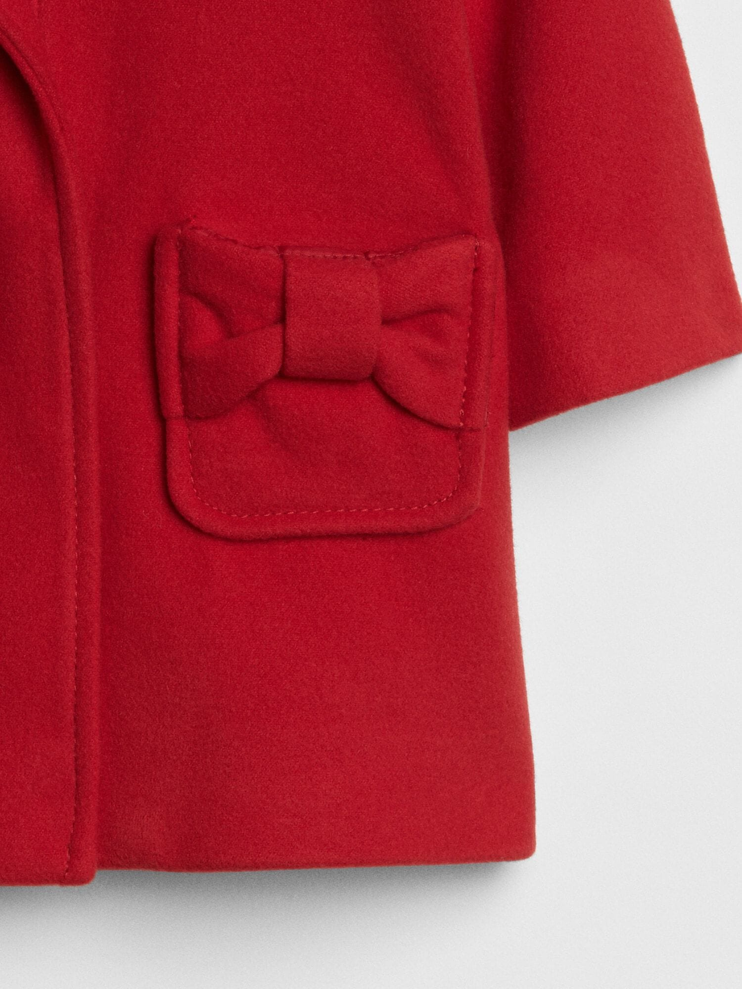 ff372229c Red Bow Peacoat