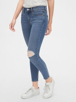 1d5591f41dd9e1 Soft Wear Mid Rise True Skinny Ankle Jeans