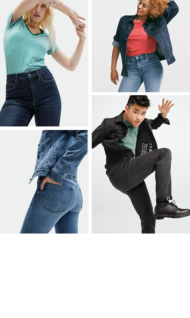 Gap for Good, washwell soft wear denim, tee shirts and denim