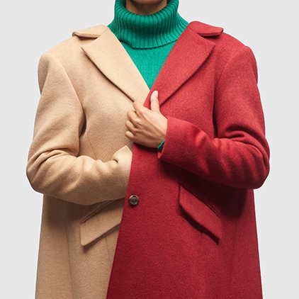 red and brown jacket
