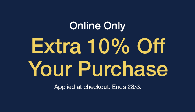 10% Off Purchase.