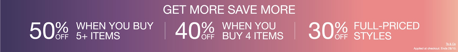 Sale 3 for 30% off