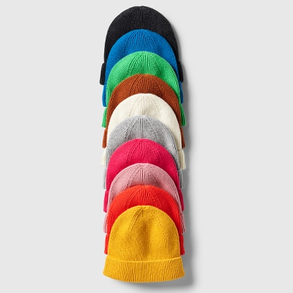 multiple colors of beanies